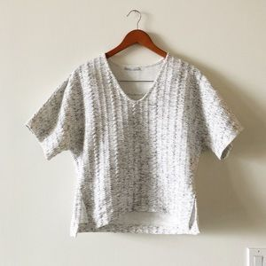 Zara sweater top with textured fabric